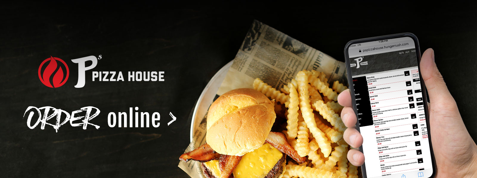Order Online | P's Pizza House | Le Mars, IA, Orange City, IA, and Dakota Dunes, SD